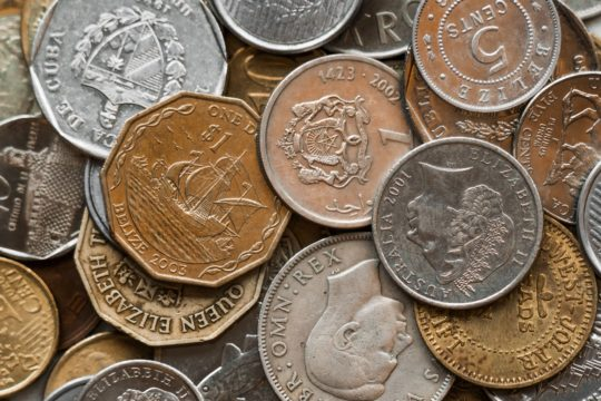 coins, foreign coins