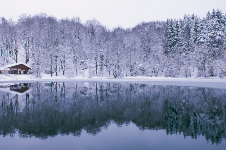 CROATIA, plitvice lakes national park, winter, snow