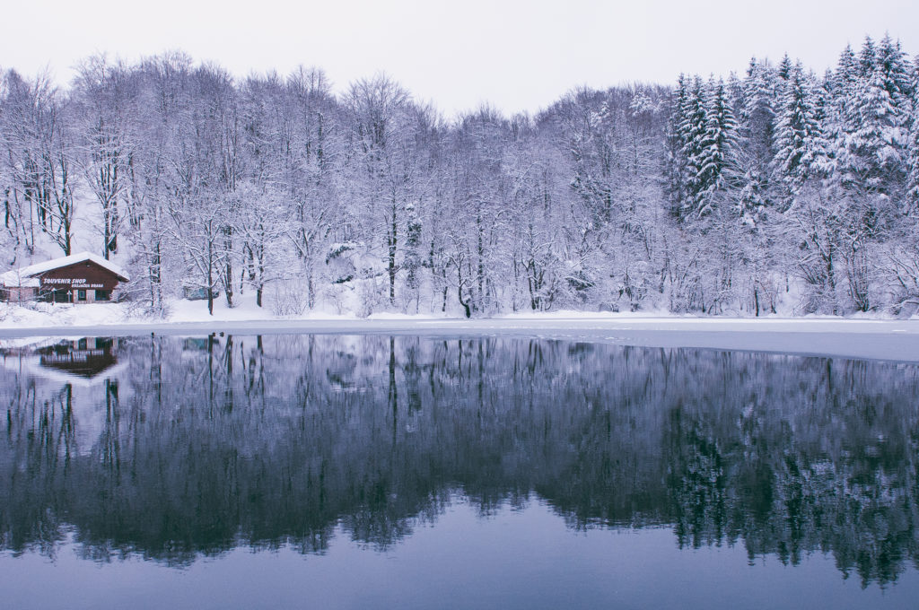 CROATIA, plitvice lakes national park, winter, snow